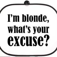 Bočni auto suncobran I m Blonde