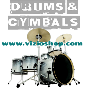 Silver drums & cymbals