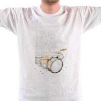 Majica Bubnjevi - Drums - Vintage