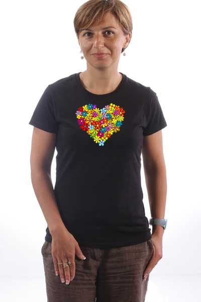 Majica Cvetno srce