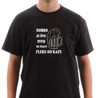 Majica Dobro je što pivo ne pravi fleke od kafe