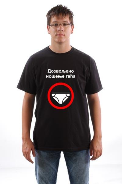 Majica Dozvoljeno nosenje gaca
