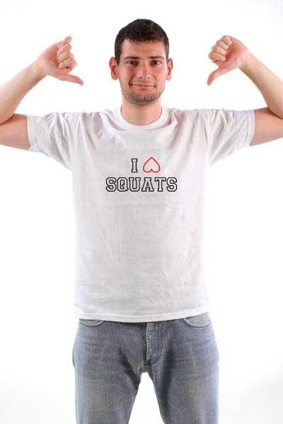 Majica Ja Volim Čučnjeve