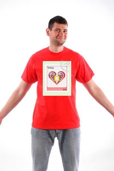 Majica Licidersko srce, poštanska marka