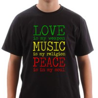 Majica Love Music Peace