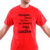 Majica Menjam cimera koji hrče za cimerku koja uzdiše