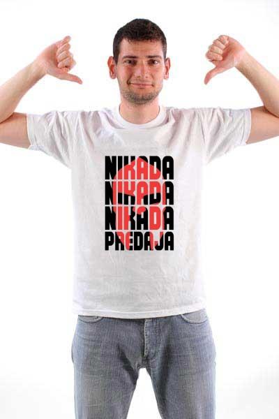 Majica Nikada predaja (Crna verzija)