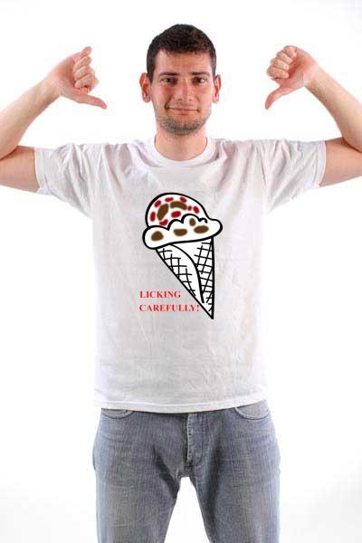 Majica Pažljivo ližite.
