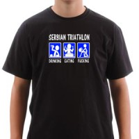 Majica SERBIAN TRIATHLON | SRPSKI TRIATLON