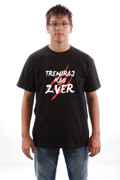 Majica Treniraj kao zver (Bela verzija)
