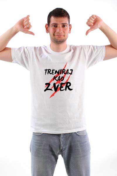 Majica Treniraj kao zver (Crna verzija)