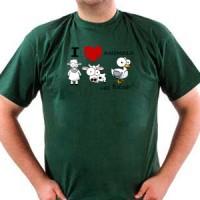 Majica Volim zivotinje - sa kecapom!