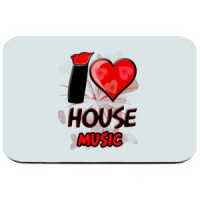 Mouse pad I Love House Music | House | Music