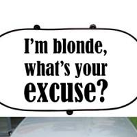 Prednji auto suncobran I m Blonde