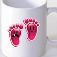 Šolja Happy Feet Girl