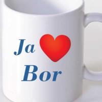 Šolja Ja volim Bor