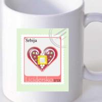 Šolja Licidersko srce, poštanska marka