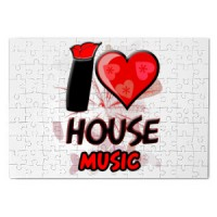 Magnetic puzzle I Love House Music | House | Music