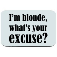 Mouse pad I M Blonde