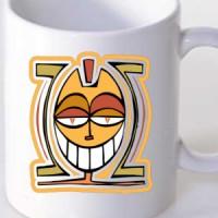 Mug African Tribal Face