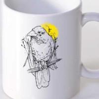 Mug Bird on a tree