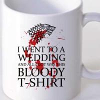 Mug Bloody White T-Shirt