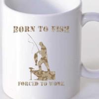 Mug Born To Fish