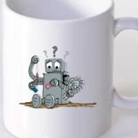 Mug Confused Robot