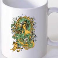 Mug Geisha And Dragon