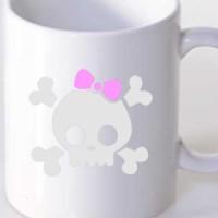 Mug Girl Skull