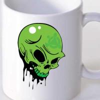 Mug Green Skull 01