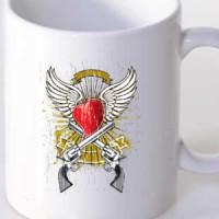 Mug Heart And Guns