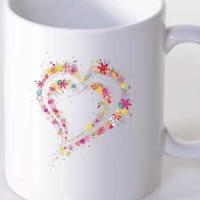 Mug Heart of flowers