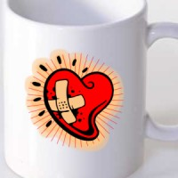 Mug Heart with a bandage