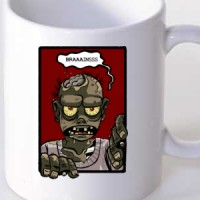 Mug Hungry Zombie Says