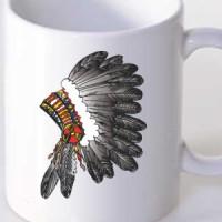 Mug Indian feather headdress