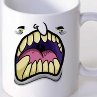 Mug Monster with yellow eyes