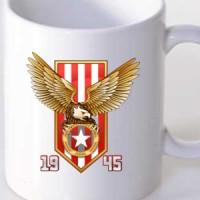 Mug Red And White Eagle