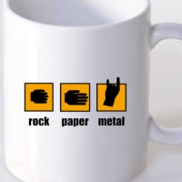 Mug Rock-Paper-Metal!
