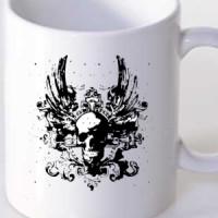 Mug Skull With Wings