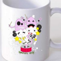 Mug Skully Monster Metal