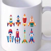 Mug Space Rockets