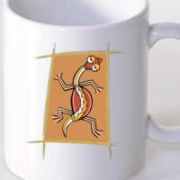 Mug Tribal Lizard