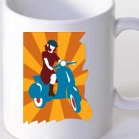 Mug Vespa Girl
