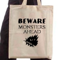 Shopping bag Beware Monsers Ahead
