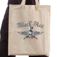 Shopping bag Black Ace