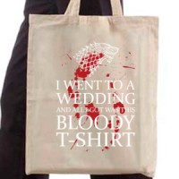 Shopping bag Bloody Black T-Shirt