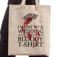 Shopping bag Bloody White T-Shirt