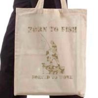 Shopping bag Born To Fish