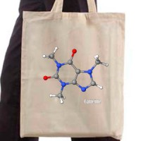 Shopping bag Caffeine Molecul